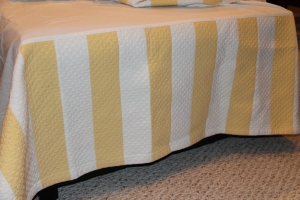 Quilted cotton bedskirt
